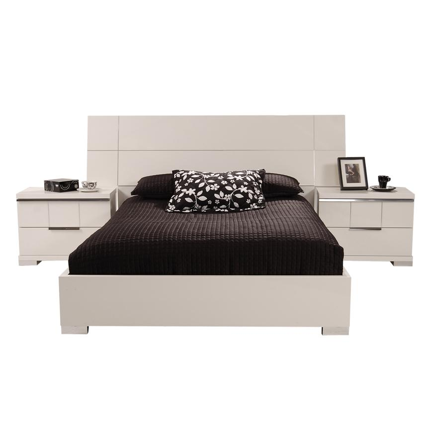 Asti Queen Platform Bed Made in Italy  alternate image, 4 of 6 images.