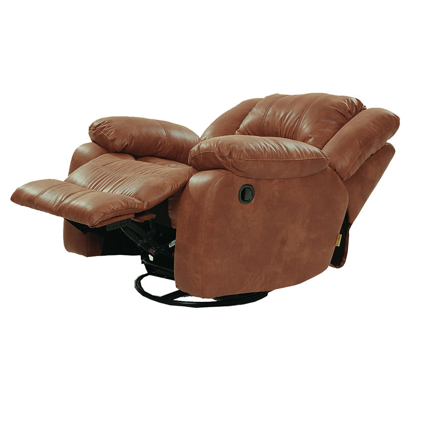 Wrangler Tan Swivel Glider Recliner  alternate image, 4 of 5 images.