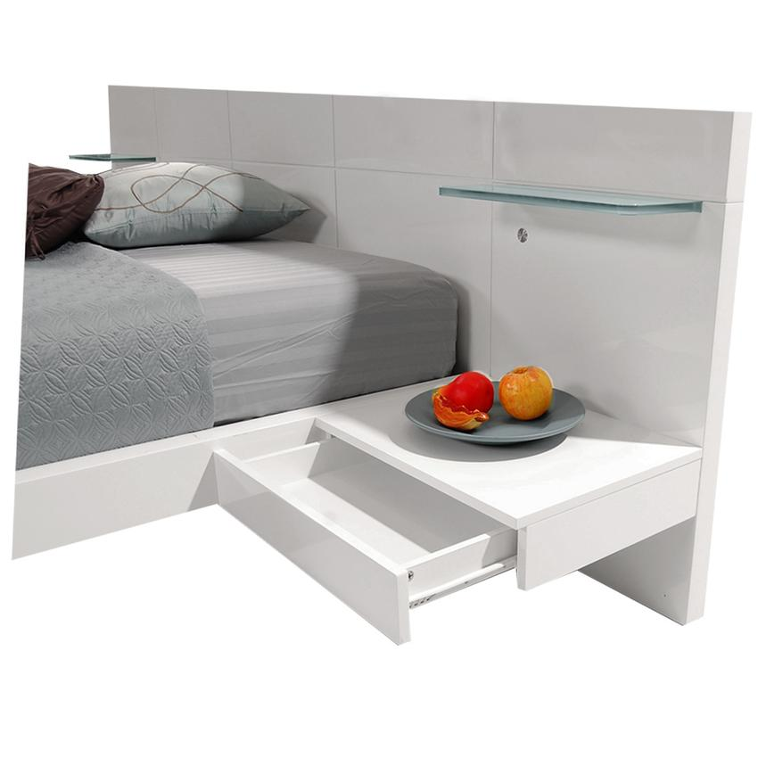 Chico White Queen Platform Bed w/Nightstands  alternate image, 4 of 8 images.