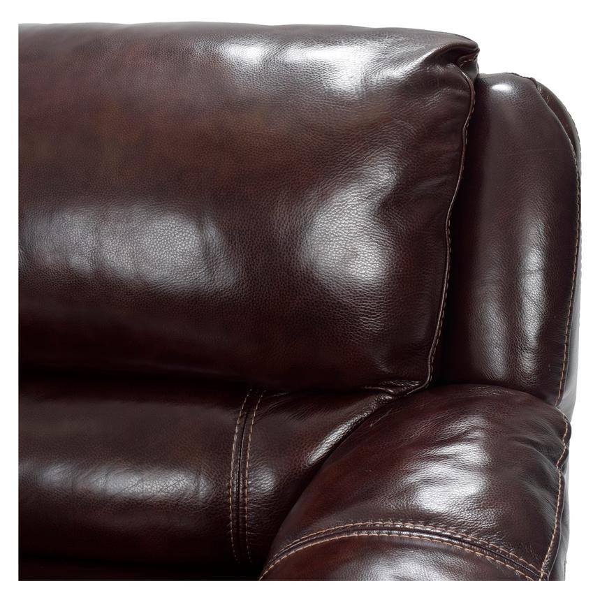 Theodore Brown Motion Leather Sofa W Right Chaise Alternate Image 5 Of 9