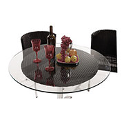 Gerald Black 5-Piece Patio Set w/10mm Glass Top  alternate image, 3 of 12 images.