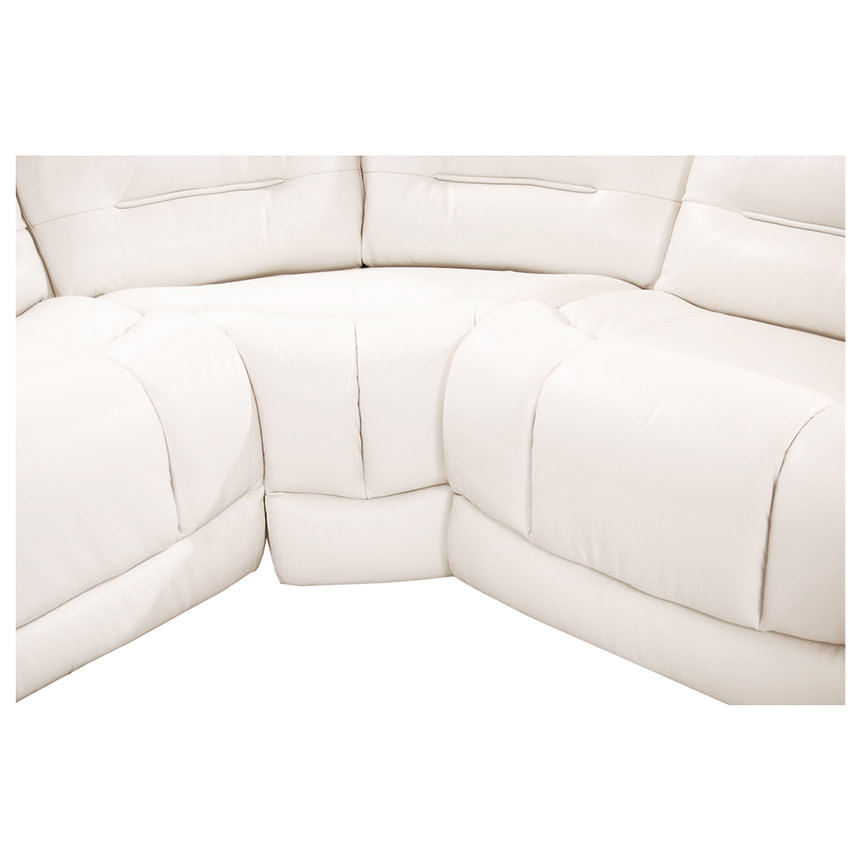 Sheree White Power Motion Leather Sofa w/Right & Left Recliners  alternate image, 4 of 7 images.