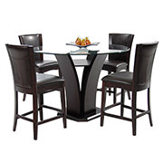 Daisy Brown 5-Piece High Dining Set  alternate image, 2 of 13 images.