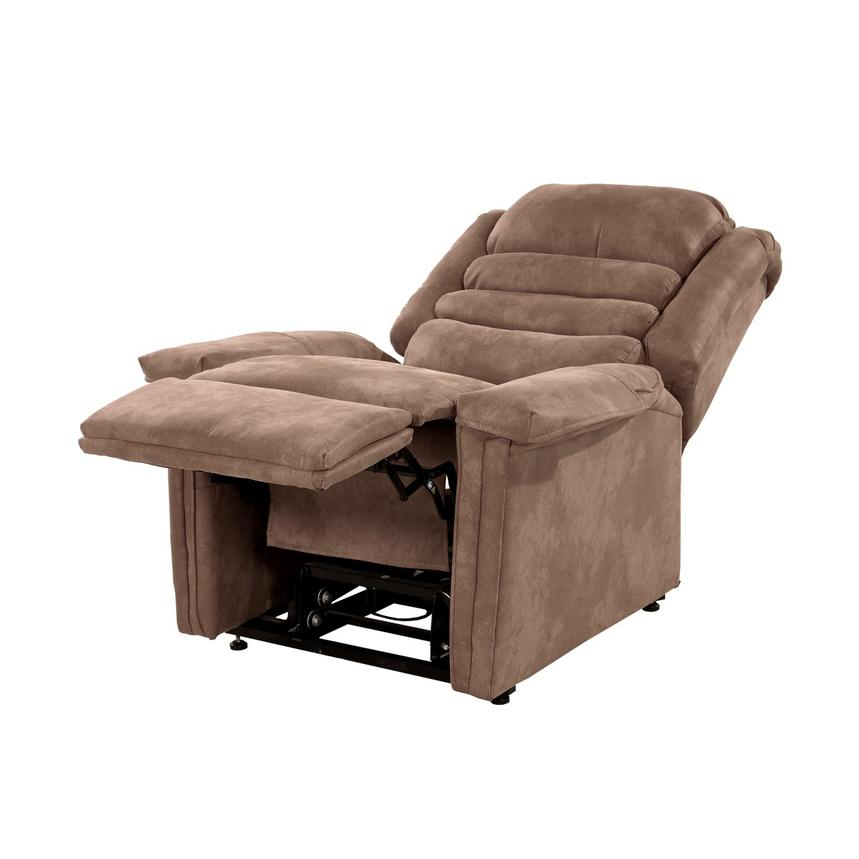 Soother Light Brown Power-Lift Recliner by Catnapper  alternate image, 4 of 9 images.
