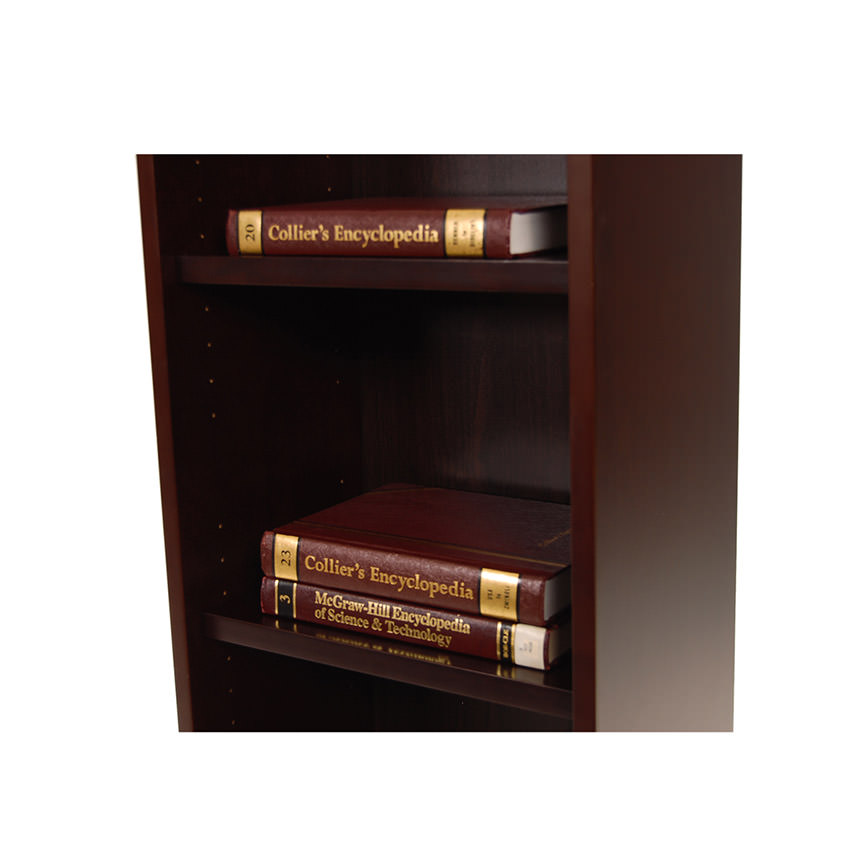 Bellmar Brown Bookcase  alternate image, 4 of 6 images.