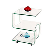 Magellan Side Table w/Casters  main image, 1 of 4 images.