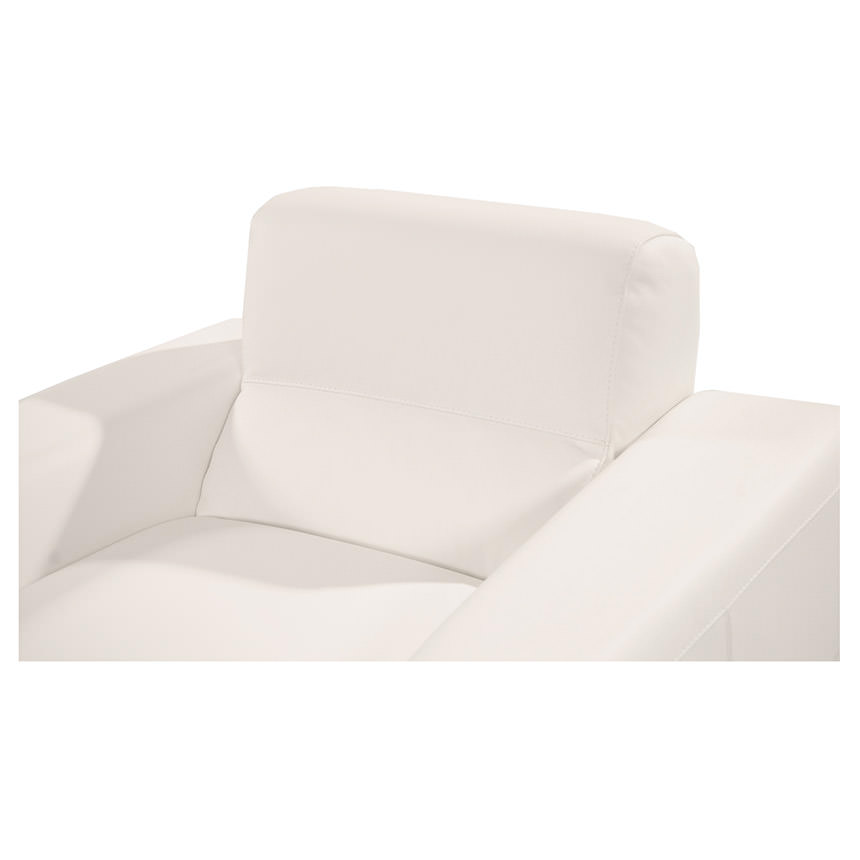 Milani White Leather Chair  alternate image, 4 of 5 images.