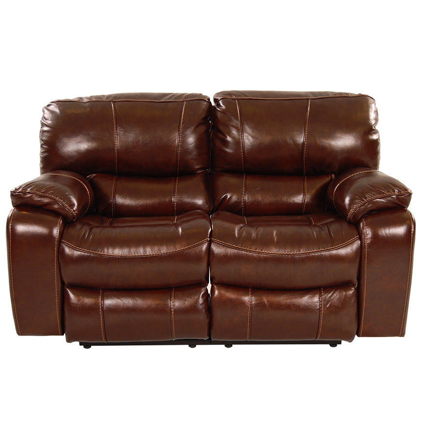 Hudson Power Motion Leather Loveseat  alternate image, 4 of 9 images.