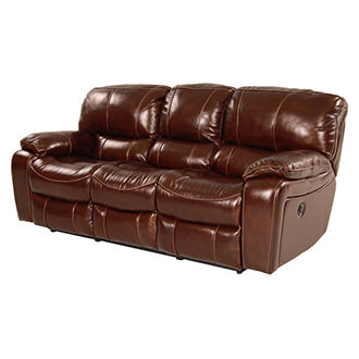 Hudson Power Motion Leather Sofa