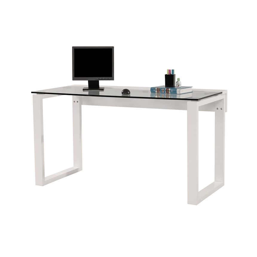 Bellmar White Desk  main image, 1 of 4 images.