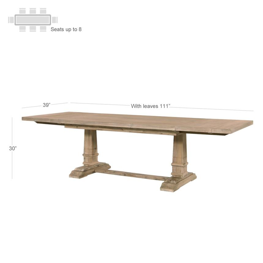 Hudson Natural Extendable Dining Table  alternate image, 4 of 13 images.