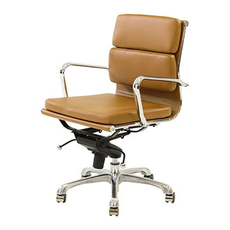 Marconi Terracotta Low Back Desk Chair