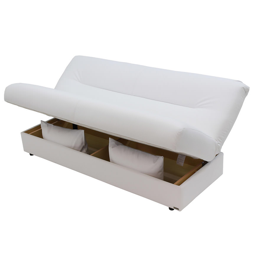 Regata White Futon w/Storage  alternate image, 4 of 8 images.