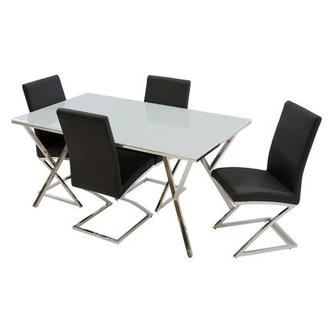 Jade Black 5-Piece Casual Dining Set