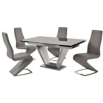 Jessy/Tegan Gray 5-Piece Formal Dining Set