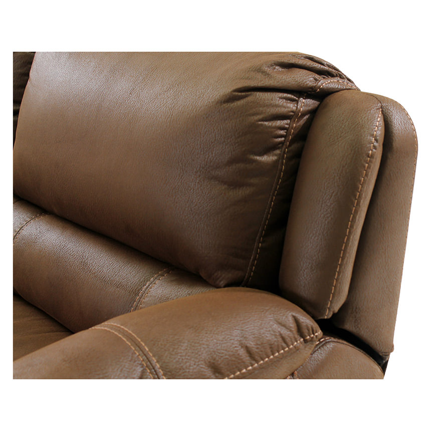 Augusto Chocolate Power Motion Sofa w/Left Chaise  alternate image, 4 of 10 images.