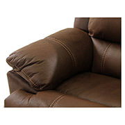 Augusto Chocolate Power Motion Sofa w/Left Chaise  alternate image, 5 of 10 images.