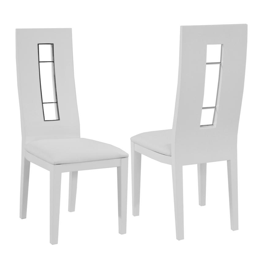 Novo White 5-Piece Formal Dining Set  alternate image, 9 of 12 images.