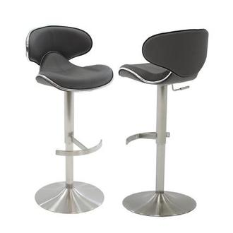 Ecco Gray Adjustable Stool