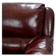 Theodore Burgundy Power Motion Leather Sofa w/Right & Left Recliners  alternate image, 6 of 9 images.