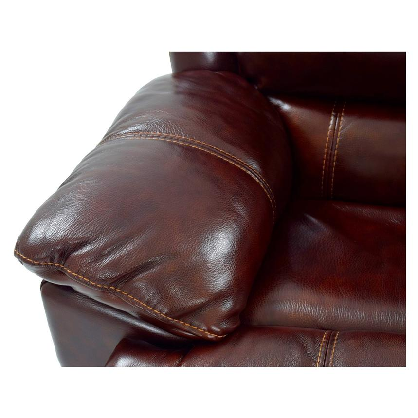 Theodore Burgundy Power Reclining Leather Sofa  alternate image, 7 of 8 images.