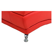 Jedda Red Leather Sofa  alternate image, 5 of 5 images.