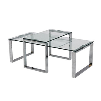 Katrine Clear Coffee Table Set of 2