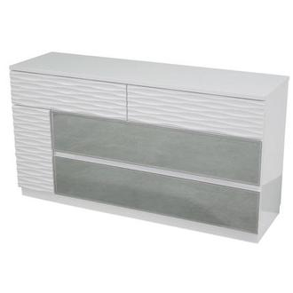 Manhattan White Mirrored Dresser