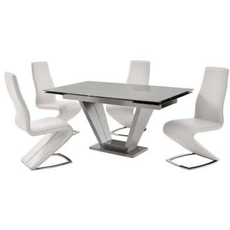 Jessy/Tegan White 5-Piece Formal Dining Set