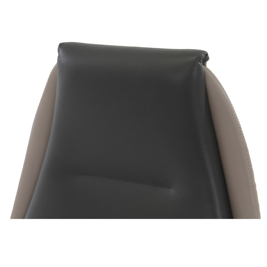 Prector Gray Leather Desk Chair  alternate image, 4 of 9 images.