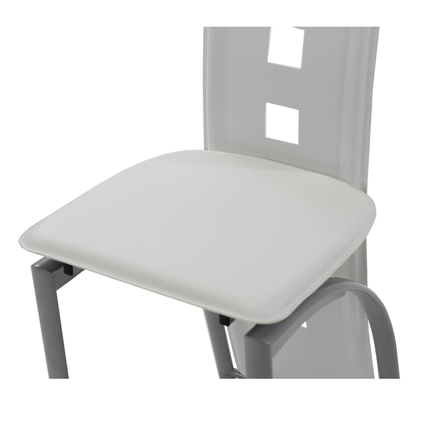 Dominoes White Counter Stool  alternate image, 4 of 4 images.