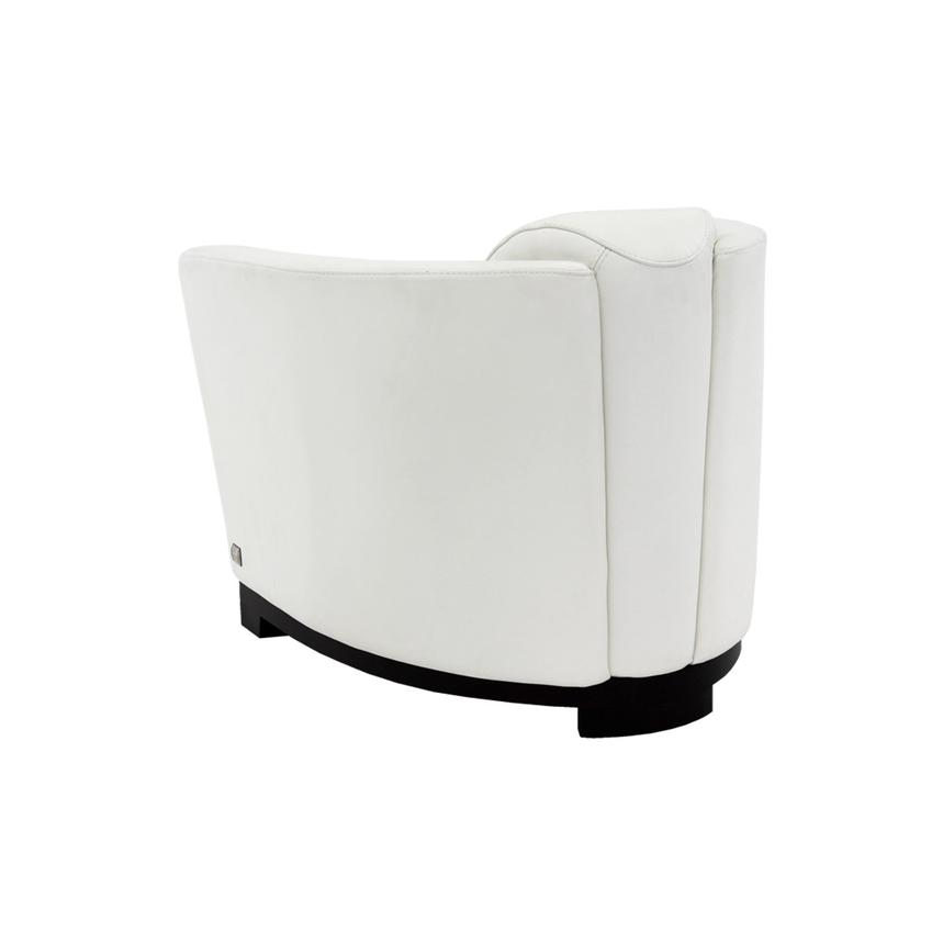 Fellini White Leather Accent Chair  alternate image, 5 of 7 images.