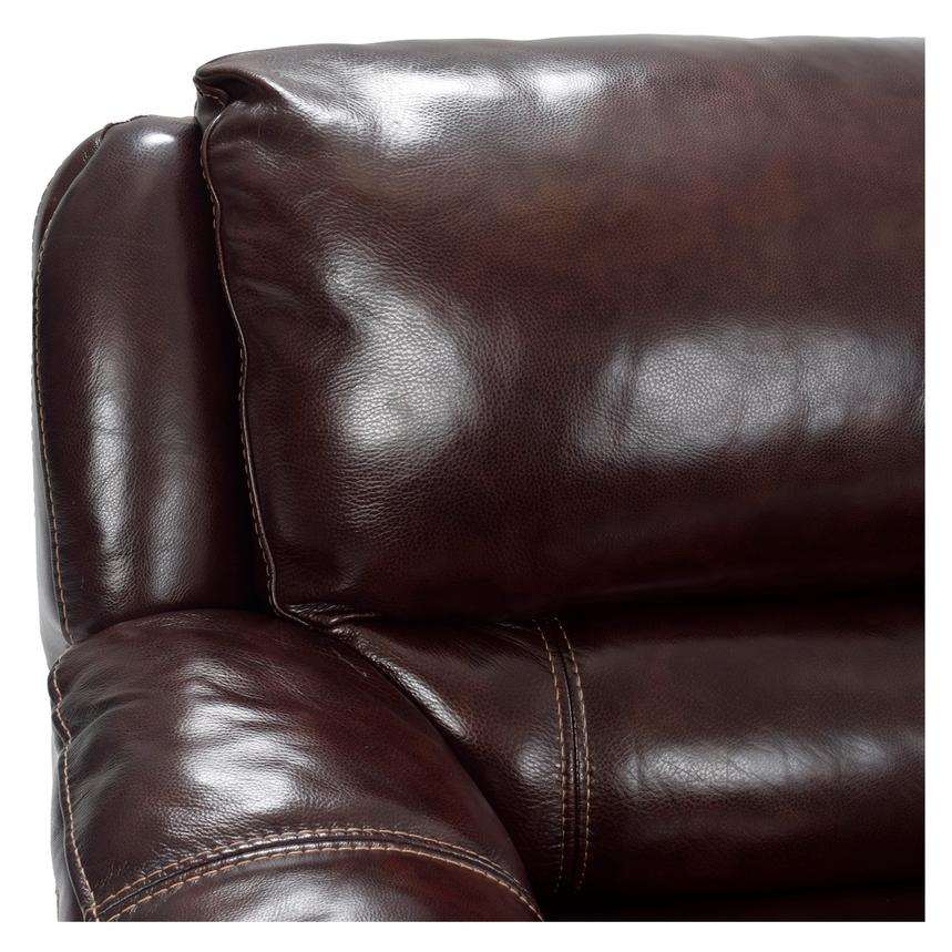 Theodore Brown Power Motion Leather Sofa w/Right & Left Recliners  alternate image, 4 of 6 images.