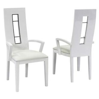 Novo White Arm Chair