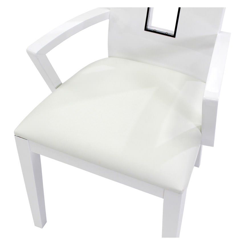 Novo White Arm Chair  alternate image, 4 of 5 images.