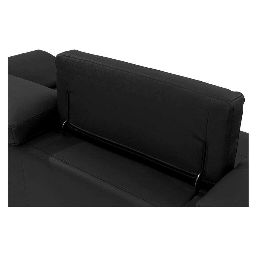 Costa Black Sofa w/Left Chaise  alternate image, 5 of 6 images.
