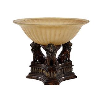 Lions Torchiere Floor Lamp El Dorado Furniture