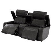 Magnetron Black Power Motion Sofa w/Console  alternate image, 2 of 8 images.