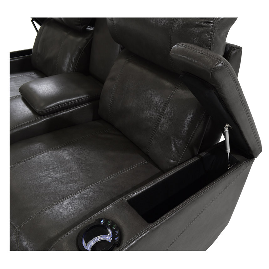 Magnetron Black Power Motion Sofa w/Console  alternate image, 4 of 8 images.