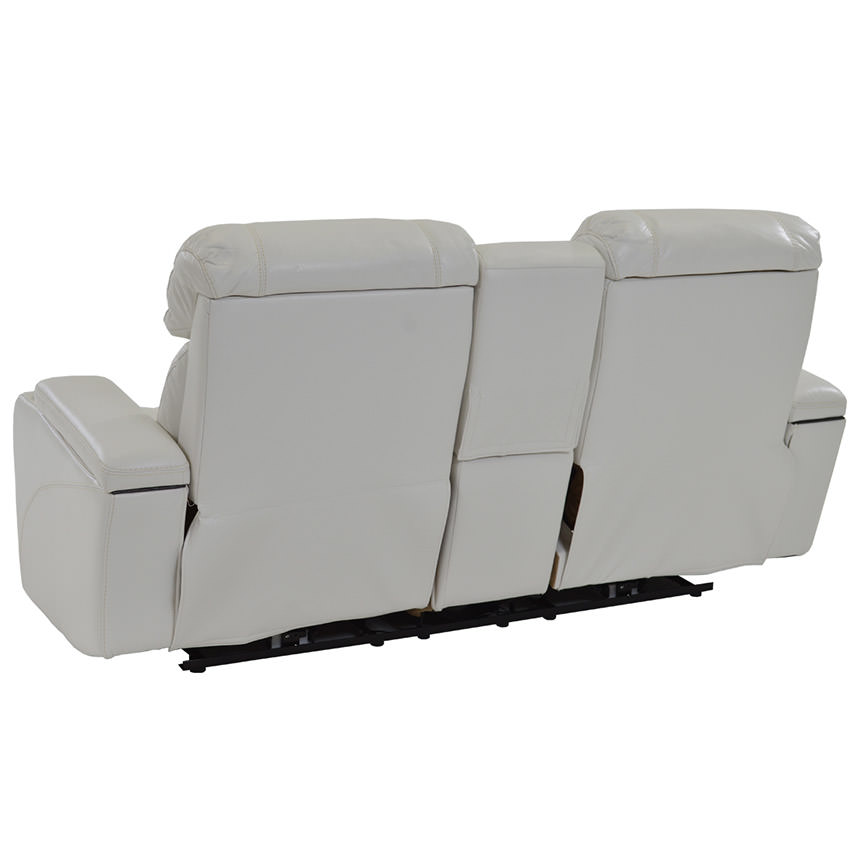 Magnetron White Power Motion Sofa w/Console  alternate image, 4 of 9 images.