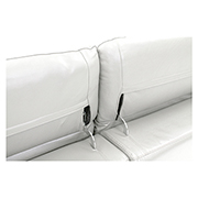 Davis White Power Motion Leather Sofa w/Right & Left Recliners  alternate image, 5 of 10 images.