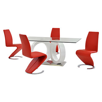 Stop 36 Red 5-Piece Formal Dining Set