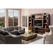 Davis Gray Power Motion Leather Sofa w/Right & Left Recliners  alternate image, 2 of 8 images.