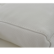 Kennedy White Leather Sofa w/Left Chaise  alternate image, 7 of 8 images.