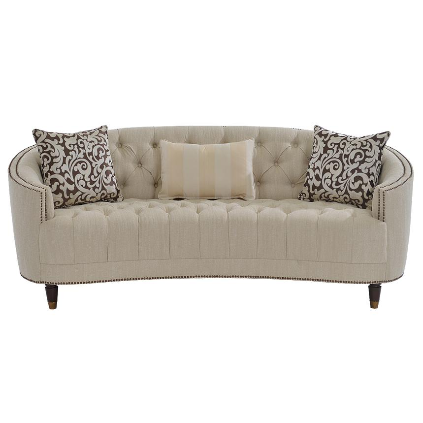 Kimberly Cream Sofa  alternate image, 4 of 8 images.