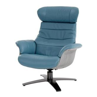 Delicieux Enzo Blue Leather Swivel Chair