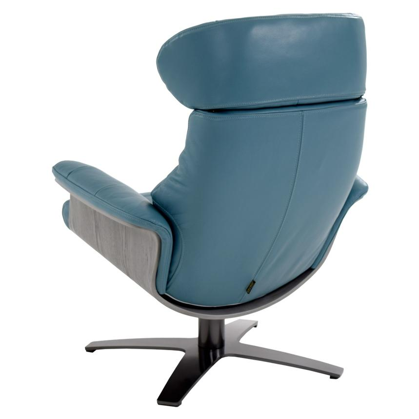 Enzo Blue Leather Swivel Chair Alternate Image, 5 Of 11 Images.