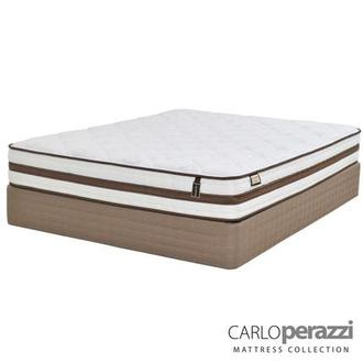 Bella Queen Mattress Set w/Regular Foundation by Carlo Perazzi