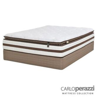 Siena Queen Mattress Set w/Low Foundation by Carlo Perazzi