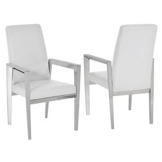 Selena White Arm Chair